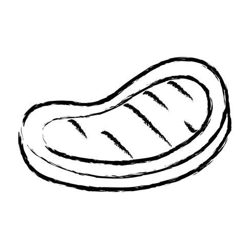 Figur leckeres Fleisch Grill Essen Geschmack