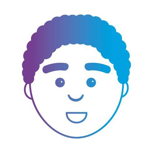 Linie Avatar Mann Kopf mit Frisur