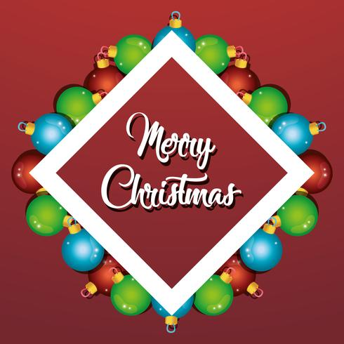 Frohe Weihnachten Bälle Dekoration Plakatgestaltung