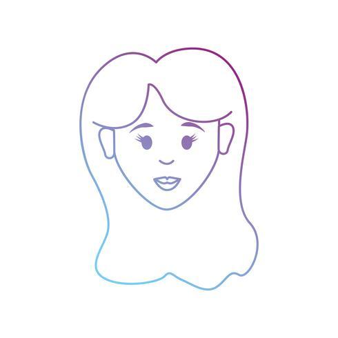 Linie Avatar Frau mit Frisur Design