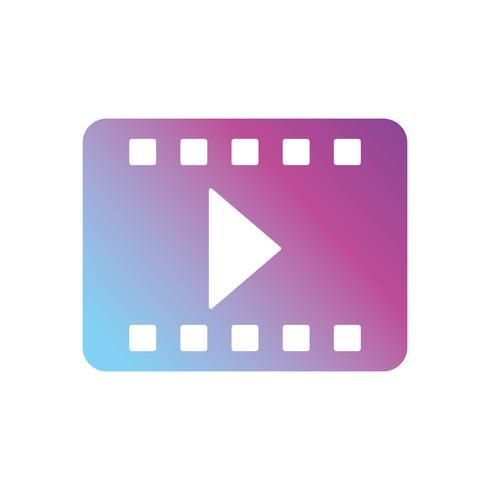 contour reel strip to retro short film vector