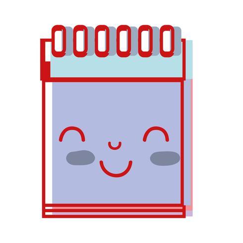 Niedliches glückliches Notizbuchwerkzeug Kawaii