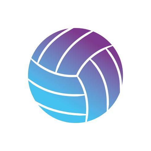 contourbal om volleybal te spelen