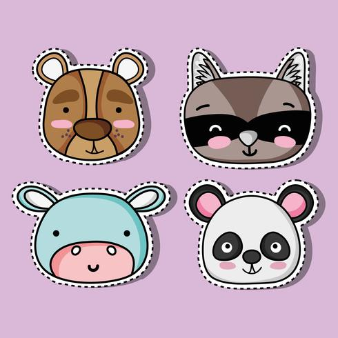 Ange söt djurfläckdesign