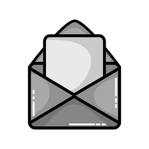 message de carte en niveaux de gris avec lettre d'information