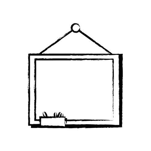 lousa de escola figura com design de moldura de madeira