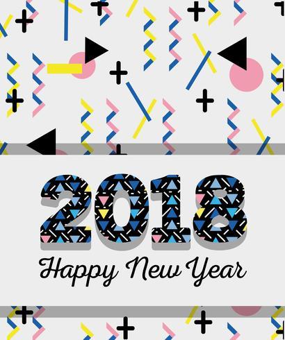 Gott nytt år över färg backgroun design