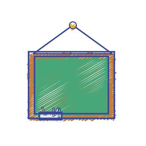 pizarra de la escuela con diseño de marco de madera