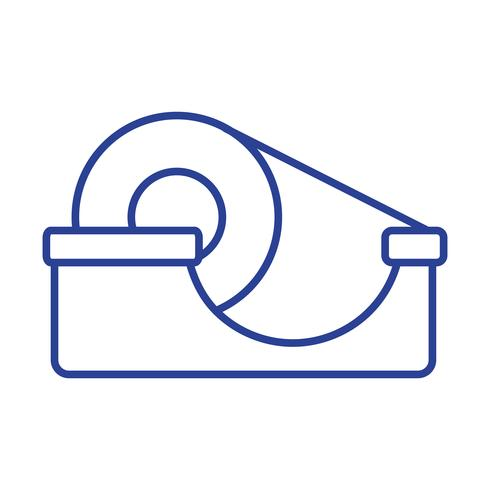 Linie transparentes Klebeband Objektdesign