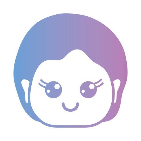 Linie Avatar Mann mit Frisurendesign