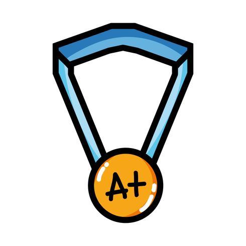 Schulmedaillensymbol zum intelligenten Studenten