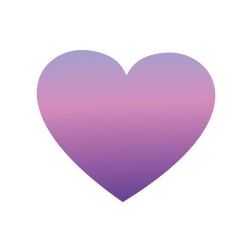 silhouet hartsymbool liefdesontwerp vector