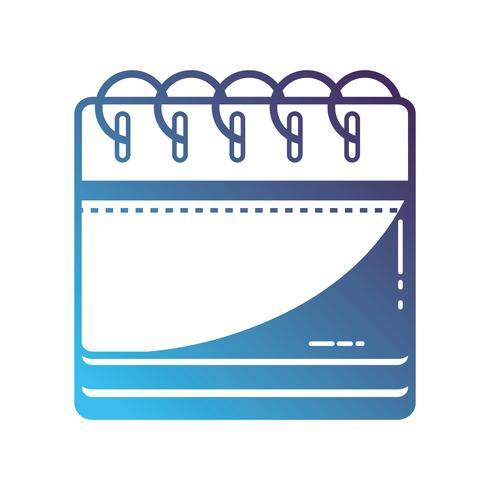silhouette calendar information to organizer event day vector