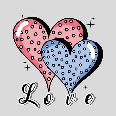 Corazones icono de amor y pasión por el diseño.