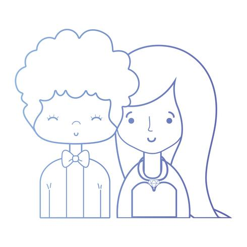 casal de beleza linha casado com design de penteado