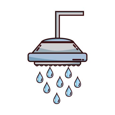 Sanitärrohr Dusche mit Wassertropfen