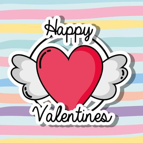 Velentines Day Parches Design Symbol of Love