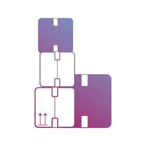 contourdozen pakketten product gesloten ontwerp vector