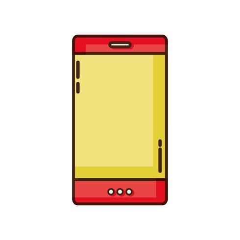 kleur smartphone-technologie om te bellen en te praten vector