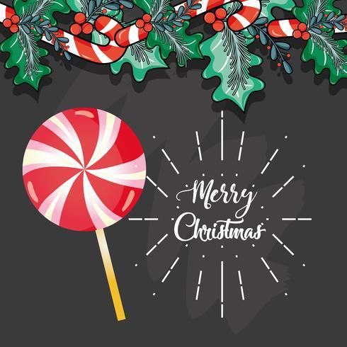 Frohe Weihnachten Dekoration Karte zum Feiern