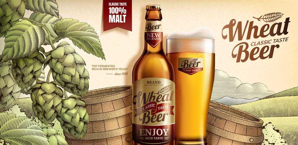 Wheat beer ads