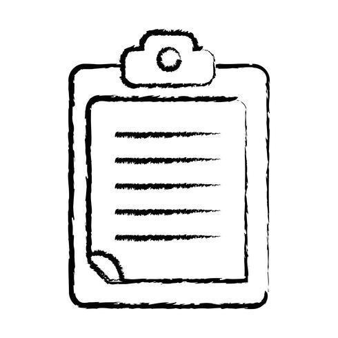 documento de negócios de lista de verificação de figura no design da área de transferência