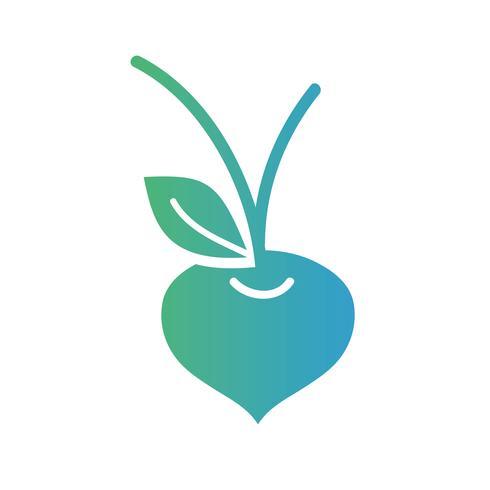 linha orgânica beterraba vegetal nutrição vetor