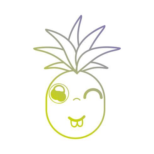 Line Kawaii Cute Funny Pineapple Fruit Download Free