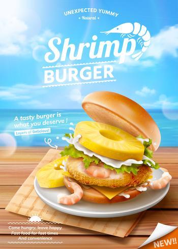 Shrimp Burger Werbung