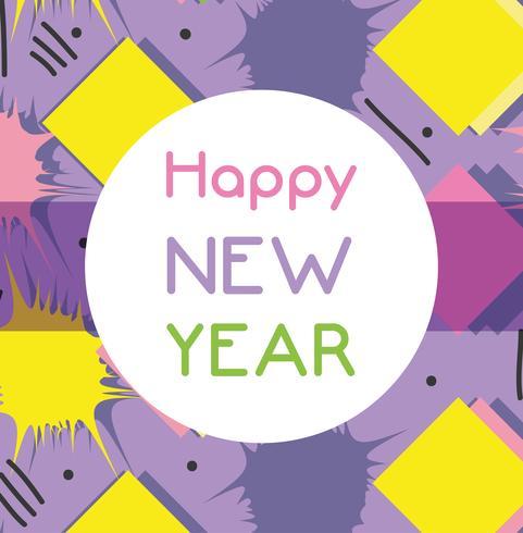 feliz ano novo sobre design de cor background