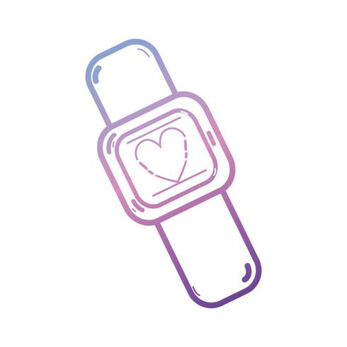ícone de tecnologia digital smartwatch linha