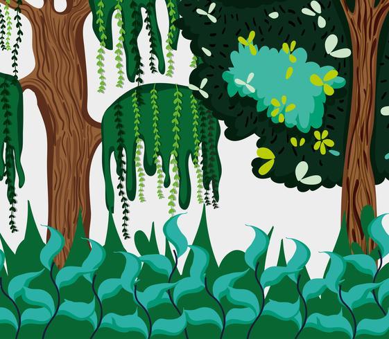 Hermoso paisaje del bosque vector