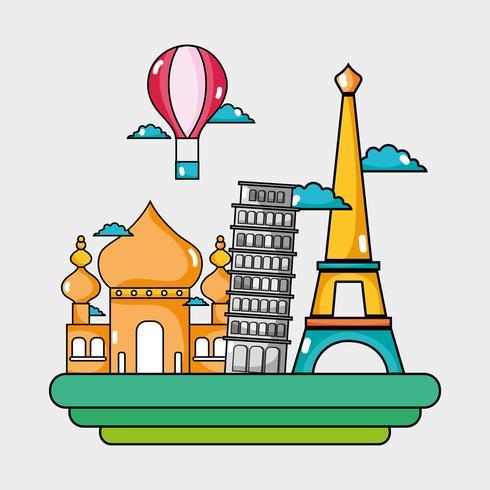 viajar países de férias para visitar