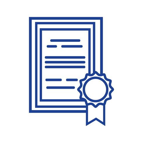 silhouet afstuderen diploma certificaat met houten frame ontwerp