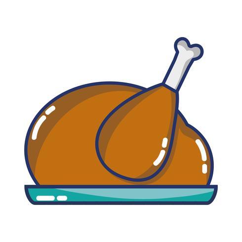 utsökt kycklingmat grillat smak