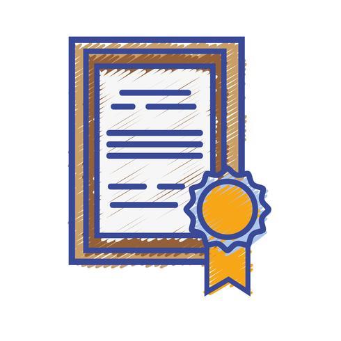 Diploma de graduación certificado con marco de madera