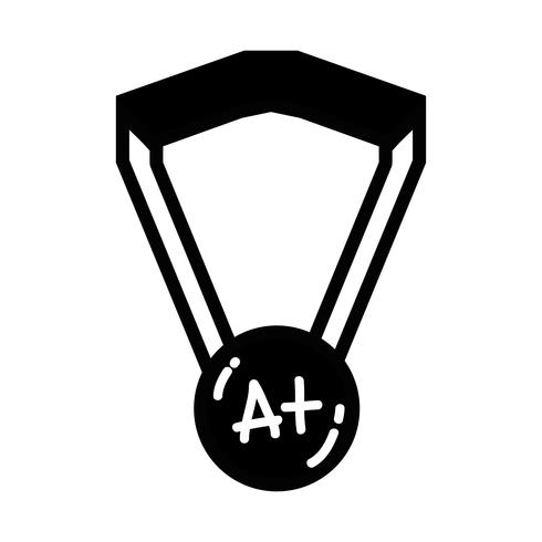 contour school medal symbol to intelligent student