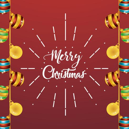 vrolijk kerstballen decoratie posterontwerp