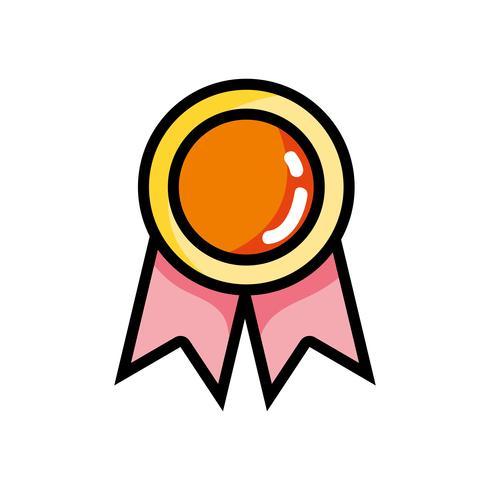 school medal symbol to intelligent student
