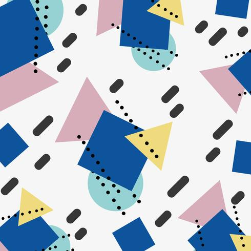 geometric color figures memphis style background