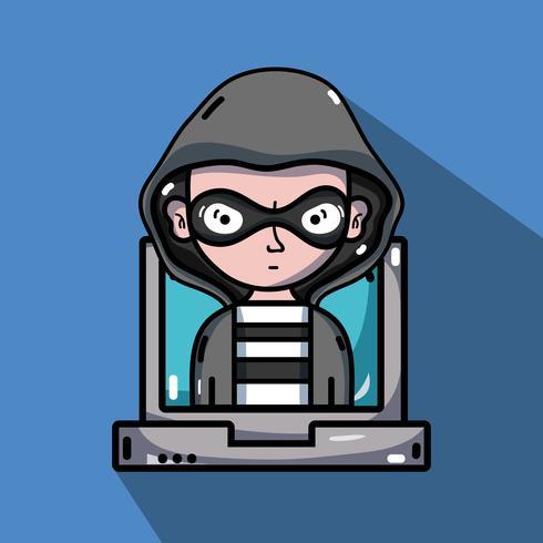 person hacker till programmerare virus i systemet