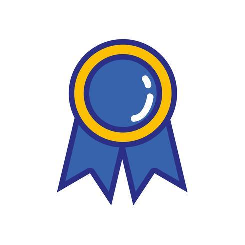 school medaille symbool voor intelligente student