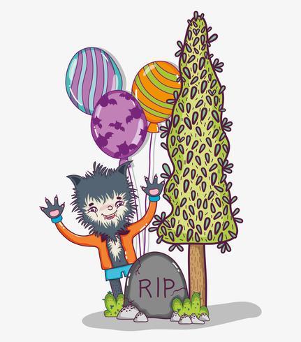 Halloween and kids cartoons vector