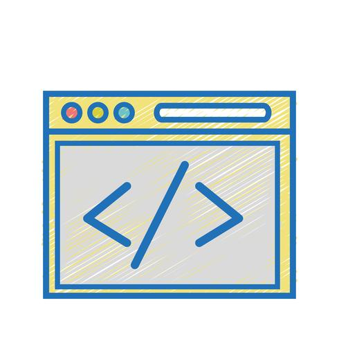 website element technology to search page vector