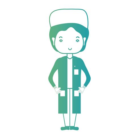 line man doctor with uniform and hairstyle design vector