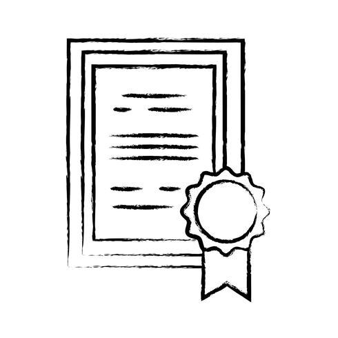 figura certificado de diploma de graduação com design de moldura de madeira