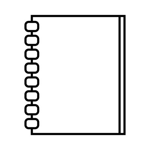 Cuadernos de línea de objetos de diseño de objetos para escribir