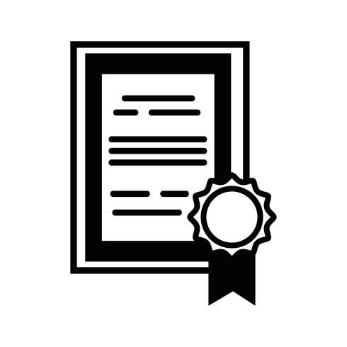 Diploma de graduación de contorno certificado con diseño de marco de madera