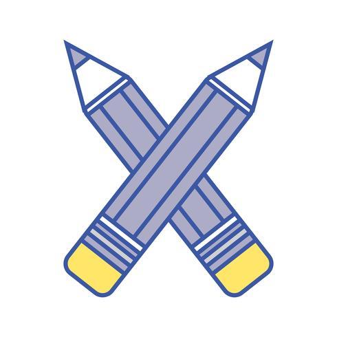lápis cores escola ferramenta objeto projeto