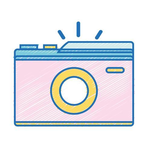 Digitalkamera, zum einer Bildkunst zu machen vektor